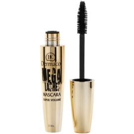 Dermacol Mega Lashes Mascara für Volumen Farbton Black 13 ml