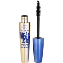Dermacol Mega Lashes Wasserfester Mascara für mehr Volumen Farbton Black 12,5 ml