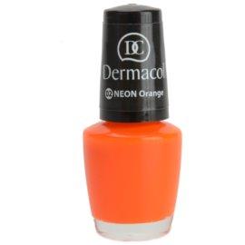 Dermacol Neon neonový lak na nehty odstín 02 Orange 5 ml