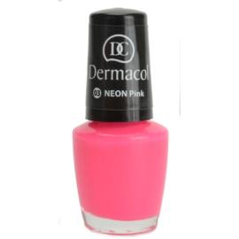 Dermacol Neon neonový lak na nehty odstín 03 Pink 5 ml