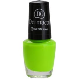 Dermacol Neon neonový lak na nehty odstín 17 Kiwi 5 ml