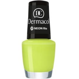 Dermacol Neon neonový lak na nehty odstín 21 Rio 5 ml