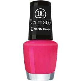 Dermacol Neon neonový lak na nehty odstín 24 Hawai 5 ml
