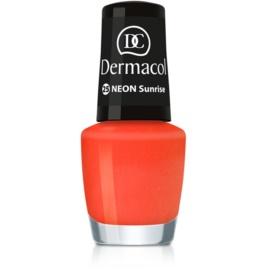 Dermacol Neon neonový lak na nehty odstín 25 Sunrise 5 ml