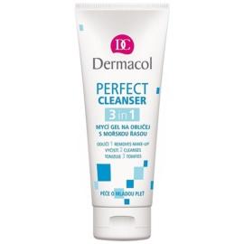 Dermacol Perfect gel de limpeza facial com algas marinhas  100 ml