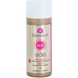 Dermacol Sun Water Resistant tónovací voděodolný pleťový fluid SPF 50  50 ml
