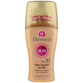 Dermacol Sun Water Resistant leite solar à prova de água SPF 20   200 ml