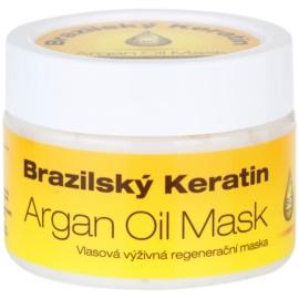 Dermagen Brazil Keratin Argan Oil máscara restauradora nutritiva para todos os tipos de cabelos  260 ml
