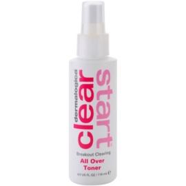 Dermalogica Clear Start Breakout Clearing tisztító és frissítő tonik spray formában arcra és testre  118 ml