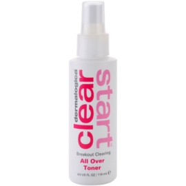 Dermalogica Clear Start Breakout Clearing tónico limpiador refrescante en spray para rostro y cuerpo  118 ml