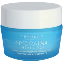Dermedic Hydrain3 Hialuro crema puternic hidratanta SPF 15  50 g