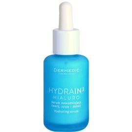 Dermedic Hydrain3 Hialuro feuchtigkeitsspendendes Hautserum für trockene bis sehr trockene Haut  30 ml