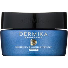 Dermika Expressima Regenerating Night Cream against expression wrinkles  50 ml