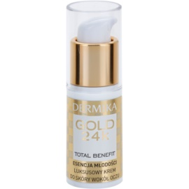 Dermika Gold 24k Total Benefit омолоджуючий крем для шкріри навколо очей  15 мл