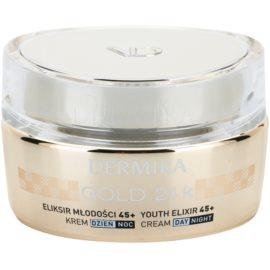 Dermika Gold 24k Total Benefit luxusní omlazující krém 45+  50 ml