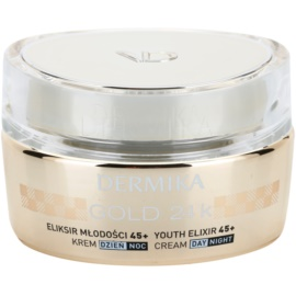 Dermika Gold 24k Total Benefit luxuriöse verjüngende Creme 45+  50 ml