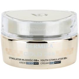 Dermika Gold 24k Total Benefit luxusní omlazující krém 55+  50 ml