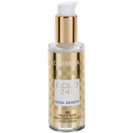 Dermika Gold 24k Total Benefit sérum rajeunissant pour une peau lumineuse et lisse  30 ml