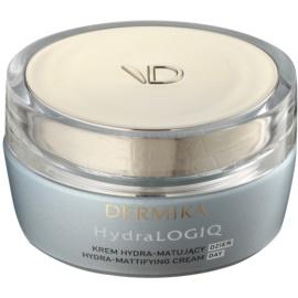 Dermika HydraLOGIQ crema matificante hidratante para pieles normales y mixtas 30+   50 ml