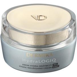 Dermika HydraLOGIQ crema de noche nutritiva  con efecto humectante 30+   50 ml