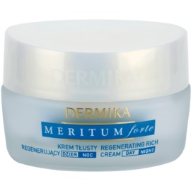 Dermika Meritum Forte creme regenerador   para pele seca  50 ml