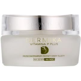 Dermika Vitamina P Plus Voedende Anti-Rimpel Crème  voor Gevoelige Huid met Neiging tot Roodheid   50 ml