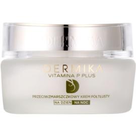 Dermika Vitamina P Plus protivráskový krém pro citlivou pleť se sklonem ke zčervenání  50 ml