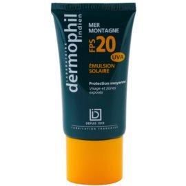 Dermophil Sun opalovací krém na obličej a pokožku vystavenou zvýšenému slunečnímu zaření SPF 20  50 g