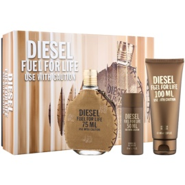 Diesel Fuel for Life Homme Gift Set  II.  Eau de Toilette 75 ml + Douchegel 100 ml + Douchegel 50 ml