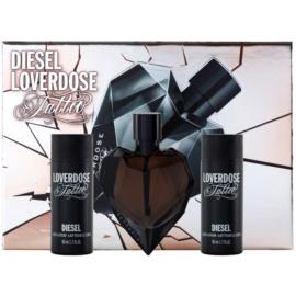 Diesel Loverdose Tattoo dárková sada I. parfémovaná voda 50 ml + tělové mléko 2 x 50 ml