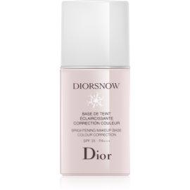 Dior Diorsnow posvetlitvena podlaga za pod tekoči puder SPF 35 odtenek Rose 30 ml