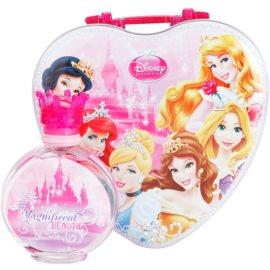Disney Princess zestaw upominkowy I. woda toaletowa 100 ml + pudełko śniadaniowe