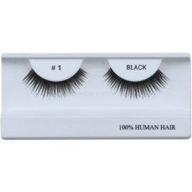 Diva & Nice Cosmetics Accessories Stick-On Eyelashes From Human Hair No. 1