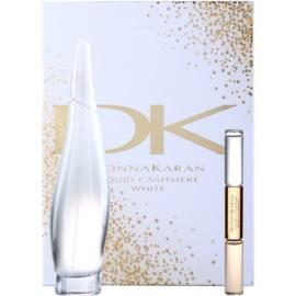 DKNY Liquid Cashmere White lote de regalo II.  eau de parfum 100 ml + roll-on  10 ml