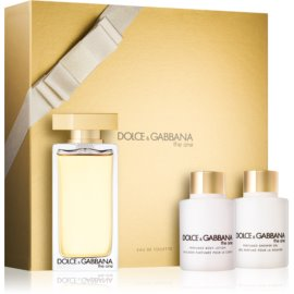 Dolce & Gabbana The One Eau de Toilette set cadou  Apa de Toaleta 100 ml + Lotiune de corp 100 ml + Gel de dus 100 ml