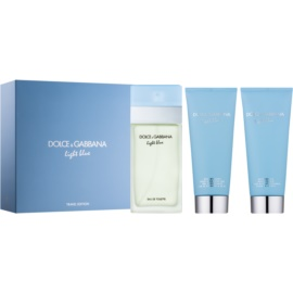 Dolce & Gabbana Light Blue darilni set XII.  toaletna voda 100 ml + gel za prhanje 100 ml + krema za telo 100 ml
