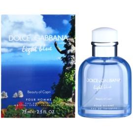 Dolce & Gabbana Light Blue Beauty of Capri eau de toilette férfiaknak 75 ml