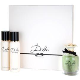 Dolce & Gabbana Dolce подаръчен комплект IV. парфюмна вода 75 ml + мляко за тяло 100 ml + душ гел 100 ml