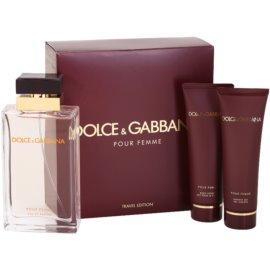 Dolce & Gabbana Pour Femme Travel Edition dárková sada II. parfémovaná voda 100 ml + sprchový gel 50 ml + tělové mléko 50 ml