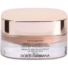 Dolce & Gabbana The Foundation Perfect Luminous Creamy Foundation кадифен фон дьо тен за озаряване на лицето цвят No. 144 Bronze SPF 15  30 мл.