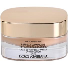 Dolce & Gabbana The Foundation Perfect Luminous Creamy Foundation rozjasňující krémový make-up SPF15 odstín 80 Creamy 30 ml
