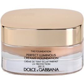 Dolce & Gabbana The Foundation Perfect Luminous Creamy Foundation кадифен фон дьо тен за озаряване на лицето цвят No. 80 Creamy SPF 15  30 мл.