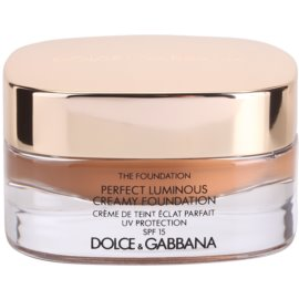 Dolce & Gabbana The Foundation Perfect Luminous Creamy Foundation rozjasňující krémový make-up SPF15 odstín 170 Golden Honey 30 ml