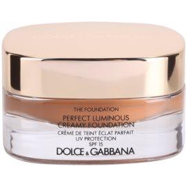 Dolce & Gabbana The Foundation Perfect Luminous Creamy Foundation кадифен фон дьо тен за озаряване на лицето цвят No. 170 Golden Honey SPF 15  30 мл.