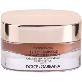 Dolce & Gabbana The Foundation Perfect Luminous Creamy Foundation кадифен фон дьо тен за озаряване на лицето цвят No. 180 Soft Sable SPF 15  30 мл.