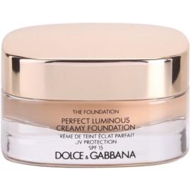 Dolce & Gabbana The Foundation Perfect Luminous Creamy Foundation rozjasňující krémový make-up SPF15 odstín 110 Caramel 30 ml