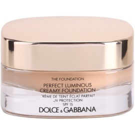 Dolce & Gabbana The Foundation Perfect Luminous Creamy Foundation кадифен фон дьо тен за озаряване на лицето цвят No. 110 Caramel SPF 15  30 мл.