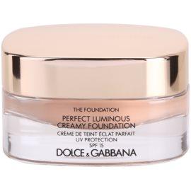 Dolce & Gabbana The Foundation Perfect Luminous Creamy Foundation кадифен фон дьо тен за озаряване на лицето цвят No. 130 Honey SPF 15  30 мл.