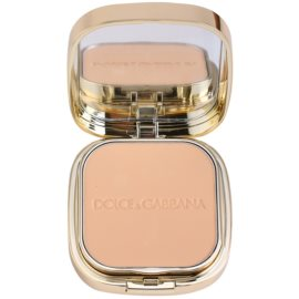Dolce & Gabbana The Foundation Perfect Matte Powder Foundation matirajoča pudrasta podlaga z ogledalom in aplikatorjem odtenek No. 80 Creamy  15 g