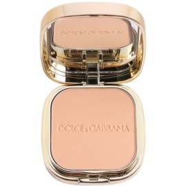 Dolce & Gabbana The Foundation Perfect Matte Powder Foundation matirajoča pudrasta podlaga z ogledalom in aplikatorjem odtenek No. 95 Buff  15 g